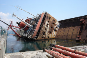 damaged vessel ship